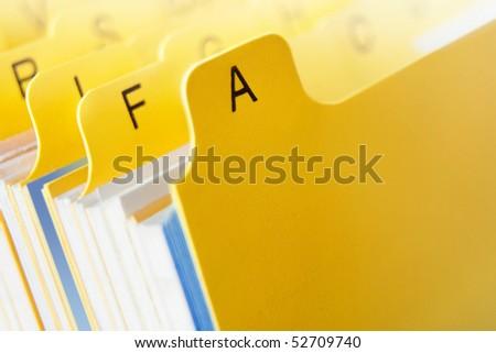 card file yellow