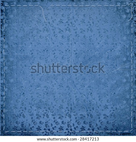Card for greeting or congratulation on the blue floral background