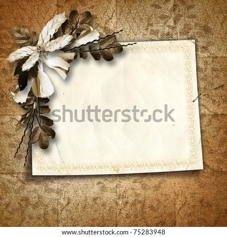 Card for greeting or invitation on the vintage background.