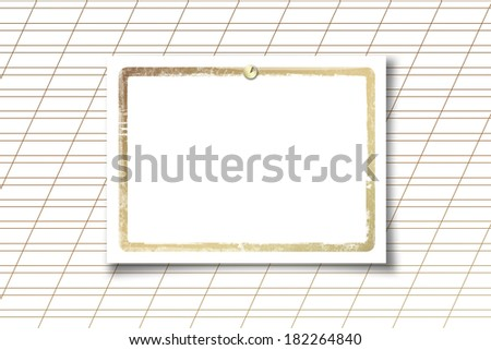 Card for invitation or congratulation on a white paper background