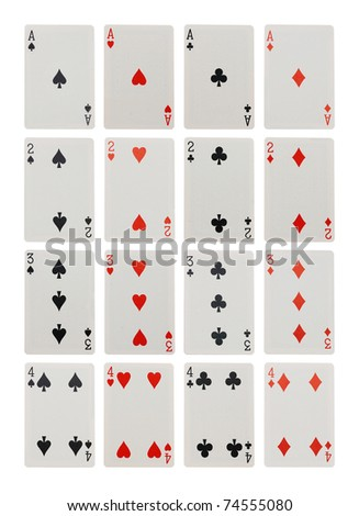 card game isolated on white background