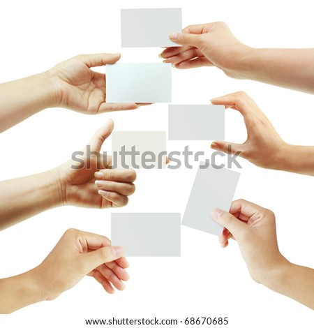 Card hand - stock photo