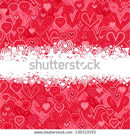 card - hearts (love - decorative banner)