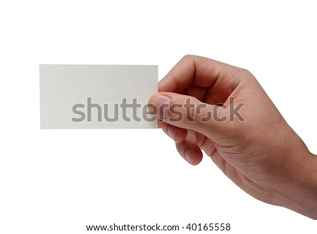 Card in man hand