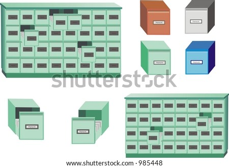 Out Cards For Files Card-index Cabinet or Filing