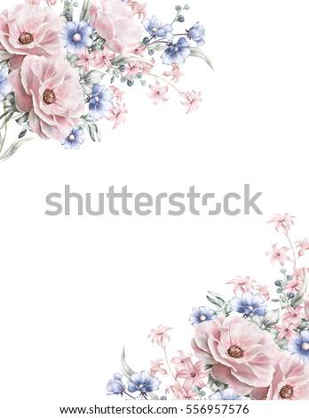 royalty free card, watercolor wedding invitation