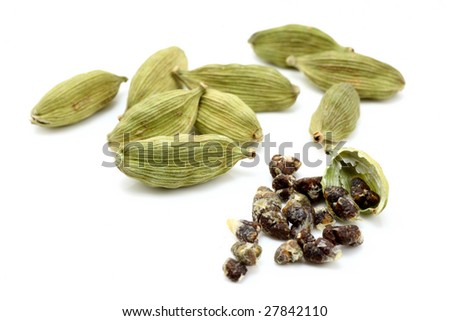 Cardamon With Cardamon Seeds Stock Photo 27842110 : Shutterstock