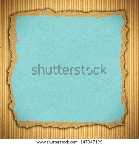 Cardboard background with copy space, design element