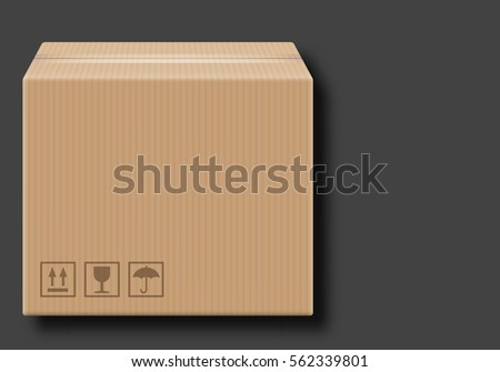 Cardboard Box Clip Art on a gray background - Shutterstock ID 562339801