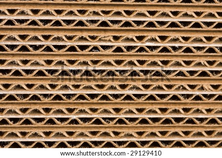 cardboard box close up detail background texture - stock photo