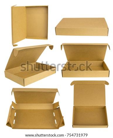 free photos open blank cardboard box for mockup avopix com