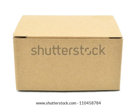 Cardboard box with isolated on white