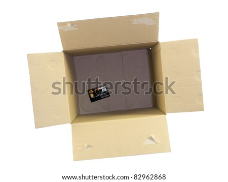 Cardboard boxes isolated against a white background #82962868