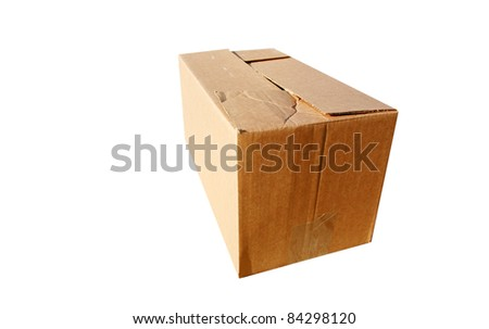 Cardboard boxes isolated on white, with room for your text