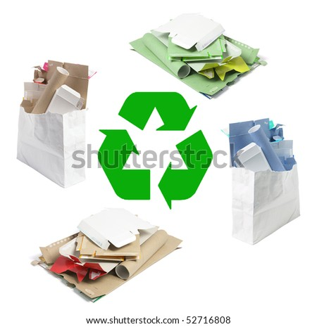 Cardboard Boxes on Isolated White Background