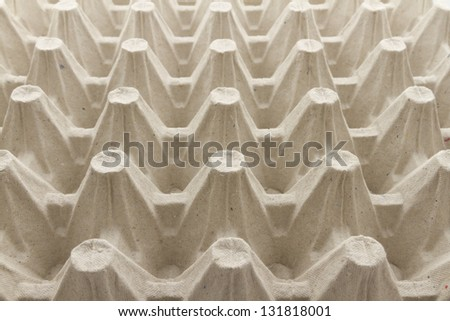 Cardboard containers for eggs,carton of eggs, side view
