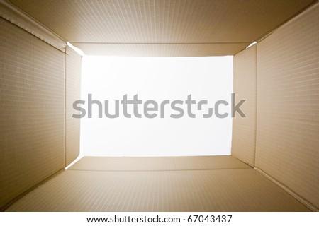 Cardboard inside - stock photo