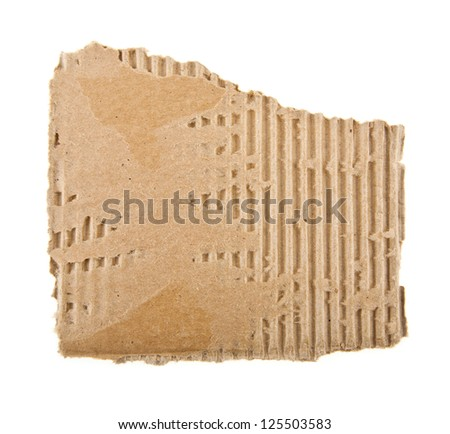 cardboard on a white background - stock photo