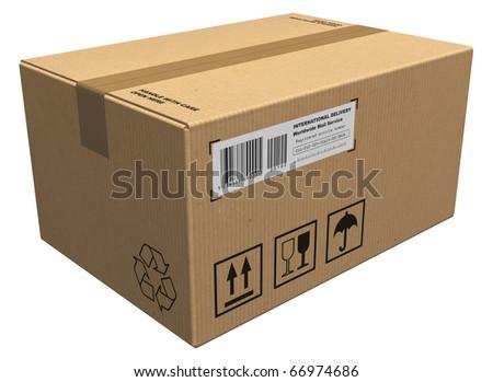 Cardboard package - stock photo