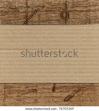 Cardboard panel in wooden frame