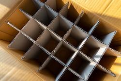 cardboard partition of beverage box.