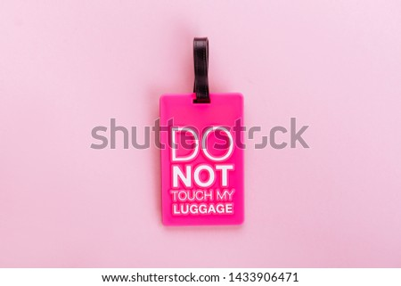cardboard price tags, sale tag, gift tag, address label, luggage label on pink background. Mock up, copy space for text, top view