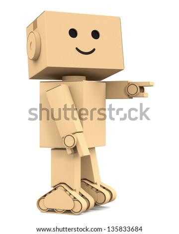 Cardboard robot character