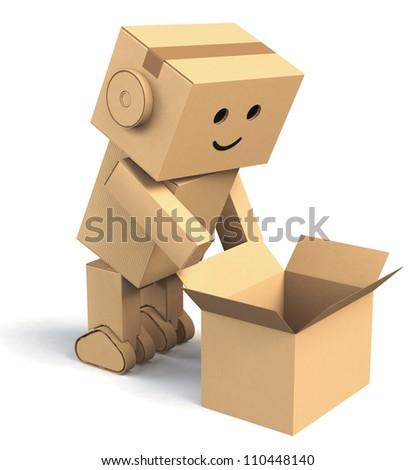 Cardboard Robots Name Cardboard Robot Opening a