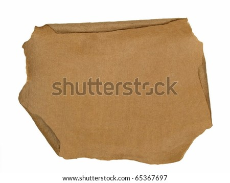 cardboard scraps isolated on white background