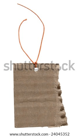 Cardboard Tag with String