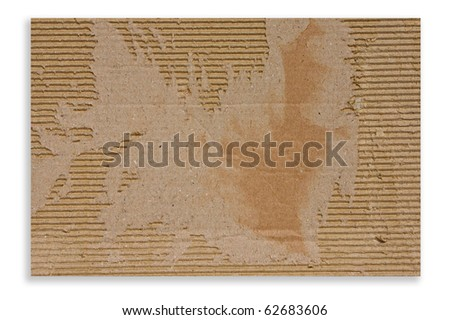 Cardboard with torn edges texture isolate on white background
