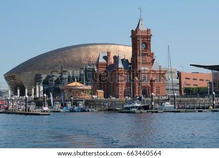Cardiff Bay, Pierhead Building, Wales Millennium Centre