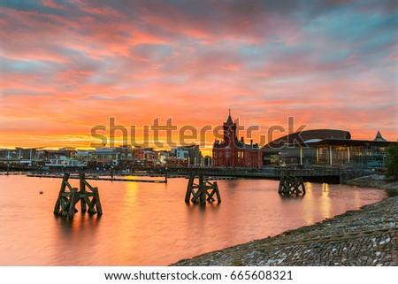 Cardiff Bay, Wales, UK #665608321