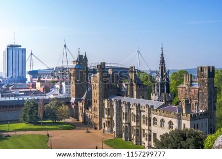 Cardiff Castle, Cardiff, Wales, UK. #1157299777