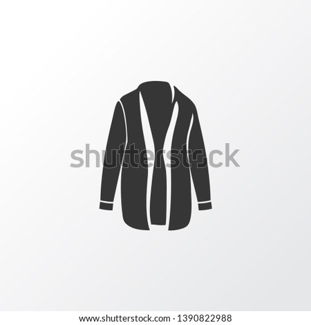 Cardigan icon symbol. Premium quality isolated overcoat element in trendy style.