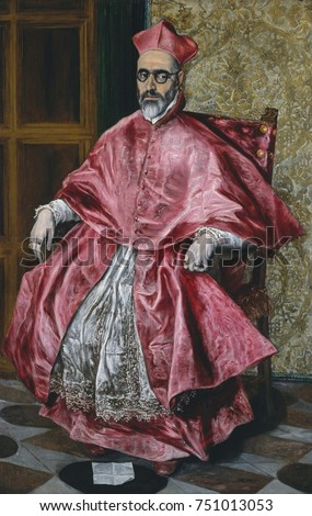 Shutterstock CARDINAL FERNANDO NINO DE GUEVARA, by El Greco, 1600, Spanish Renaissance painting, oil on canvas. The sitter became a Roman Catholic cardinal in 1596, was the Inquisitor General of Spain from 1599-16