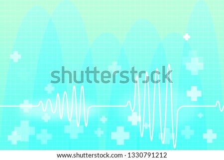 Cardiogram A health in Blue Background