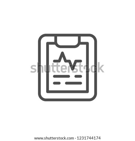 Cardiogram line icon isolated on white
