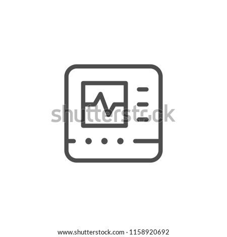 Cardiograph line icon isolated on white