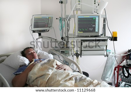 cardiology patient - stock photo