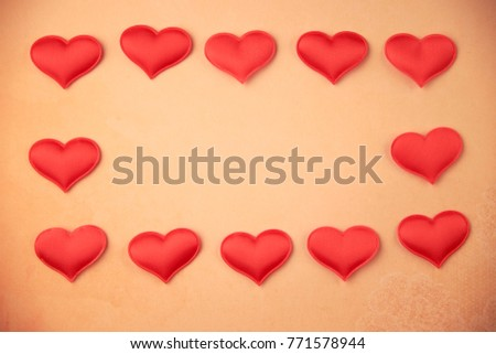 cards Valentines with hearts #771578944