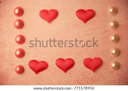 cards Valentines with hearts #771578950
