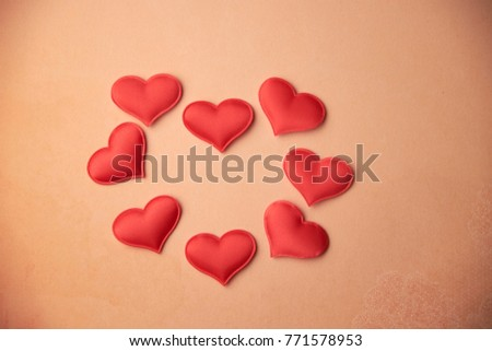 cards Valentines with hearts #771578953