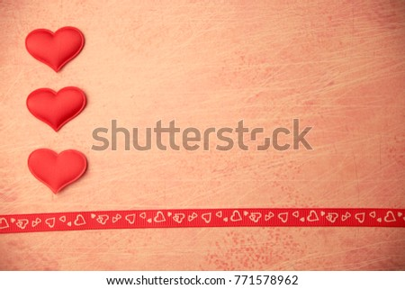 cards Valentines with hearts #771578962