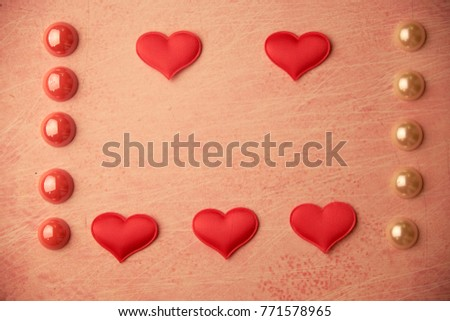 cards Valentines with hearts #771578965