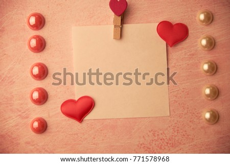 cards Valentines with hearts #771578968