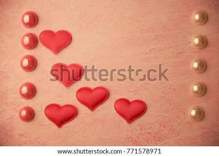 cards Valentines with hearts #771578971