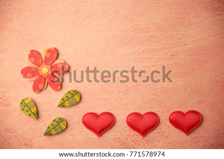 cards Valentines with hearts #771578974