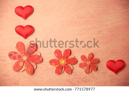 cards Valentines with hearts #771578977