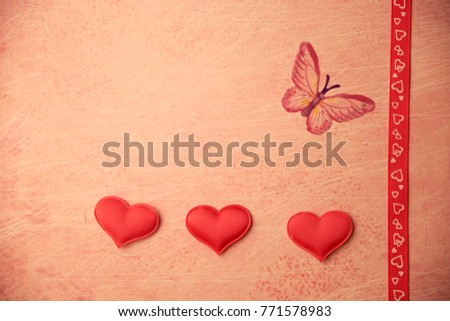 cards Valentines with hearts #771578983